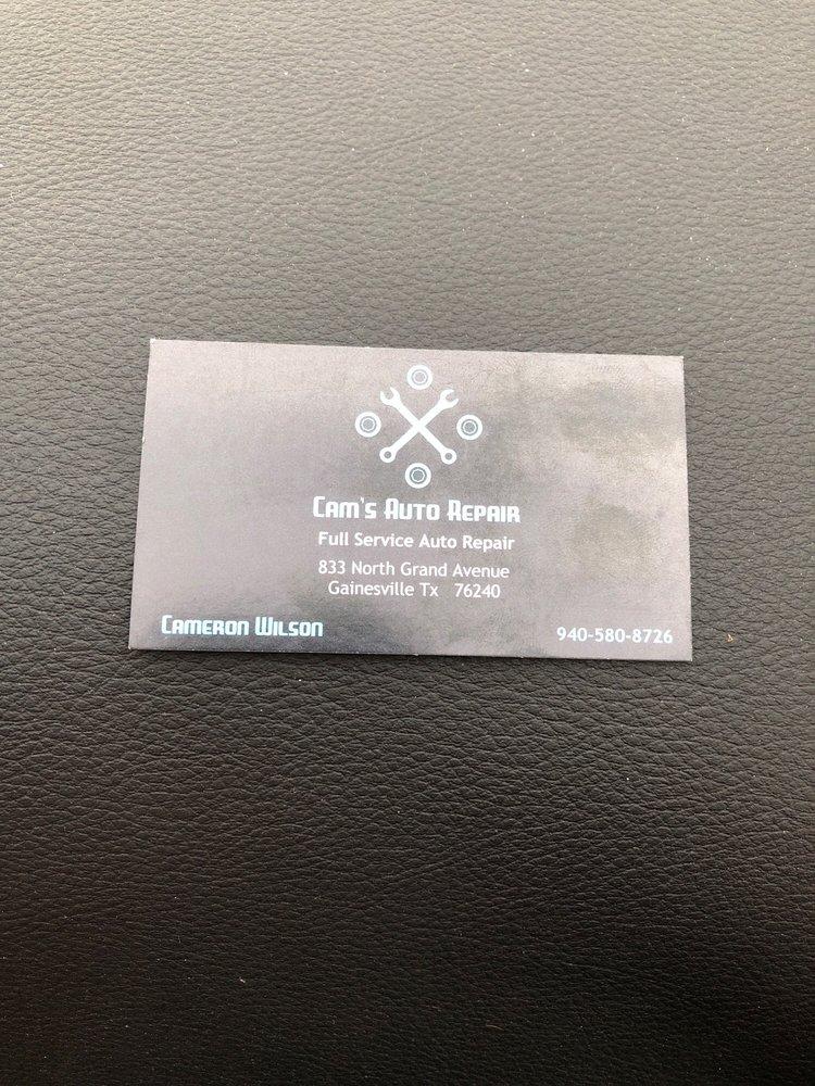 Cam's Auto Repair: 833 N Grand Ave, Gainesville, TX