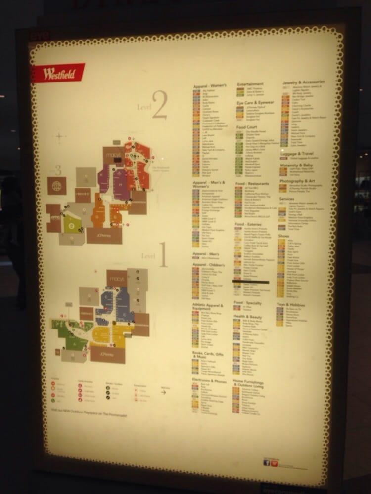 Santa Anita Mall Map Directory of Santa Anita   Yelp Santa Anita Mall Map