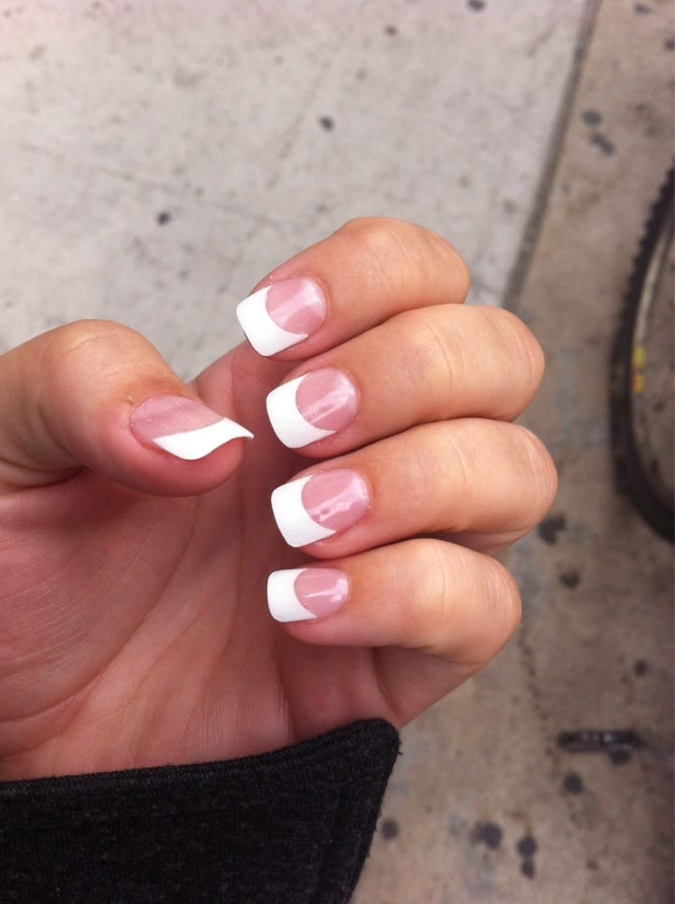 Acrylic tips french manicure 40 yelp for Acrylic nail salon nyc