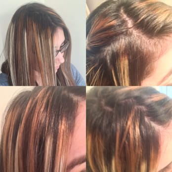 Hair Coloring With Black Roots And Old White Blonde