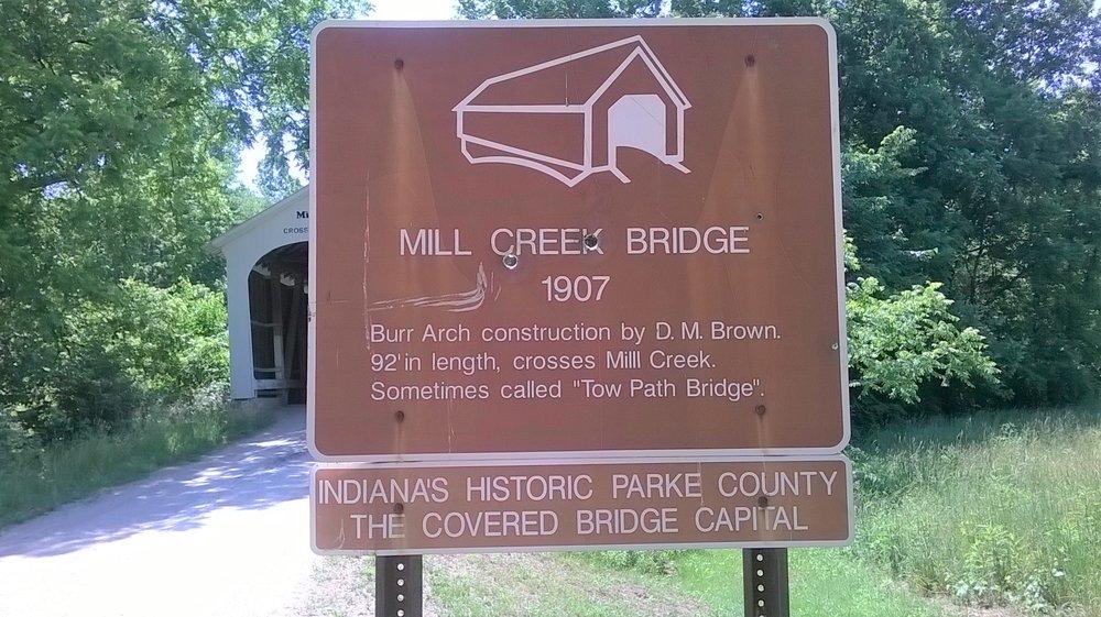Mill Creek Covered Bridge: 9812 Tow Path Rd, Kingman, IN