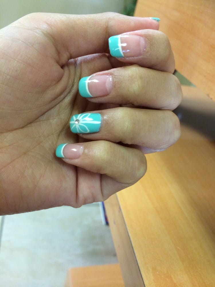 Tiffany Blue Themed Nails With Gel Polish By Teresa Yelp