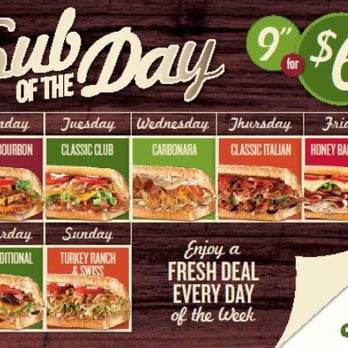 QUIZNOS DEAL OF THE DAY CANADA 2019