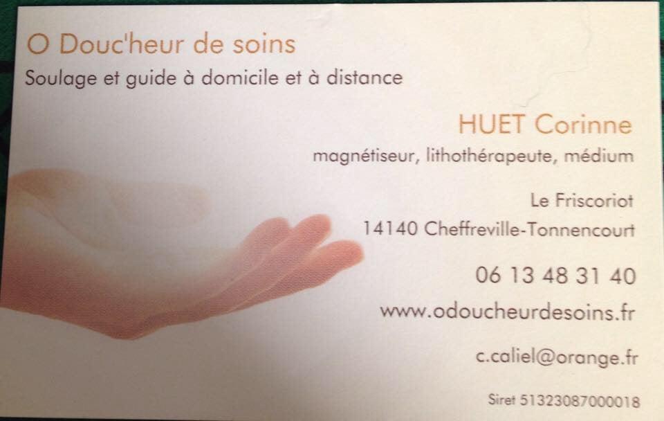 Ma Carte De Visite Corinne HUET Magnetiseur Medium Et Lithotherapeute WwwOdoucheurdesoinsFr