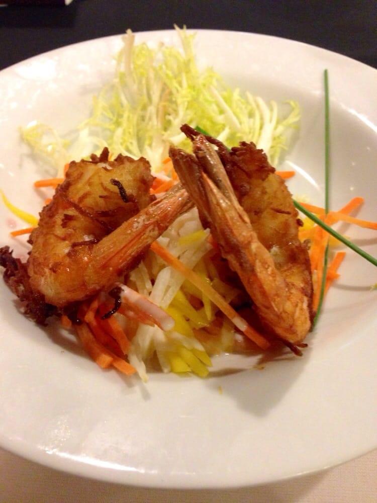 Coconut Shrimp Salad Appetizer At The Rock Restaurant Yelp
