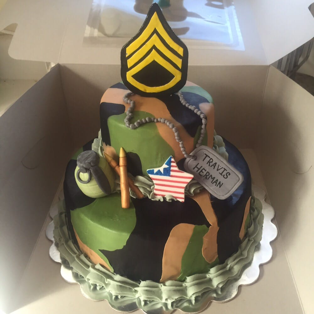 Army Themed Birthday Cake Yelp