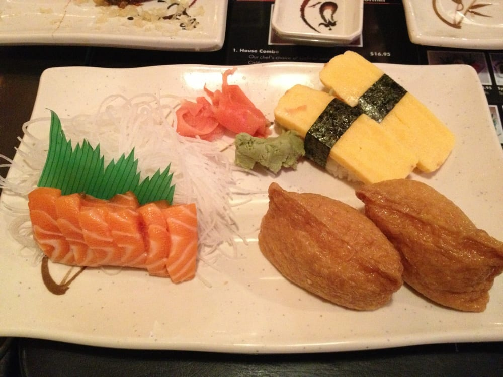 Tamago Inari And Salmon Sashimi Yelp