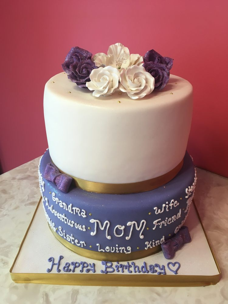 Two Tier Birthday Cake For A Special Mom Yelp