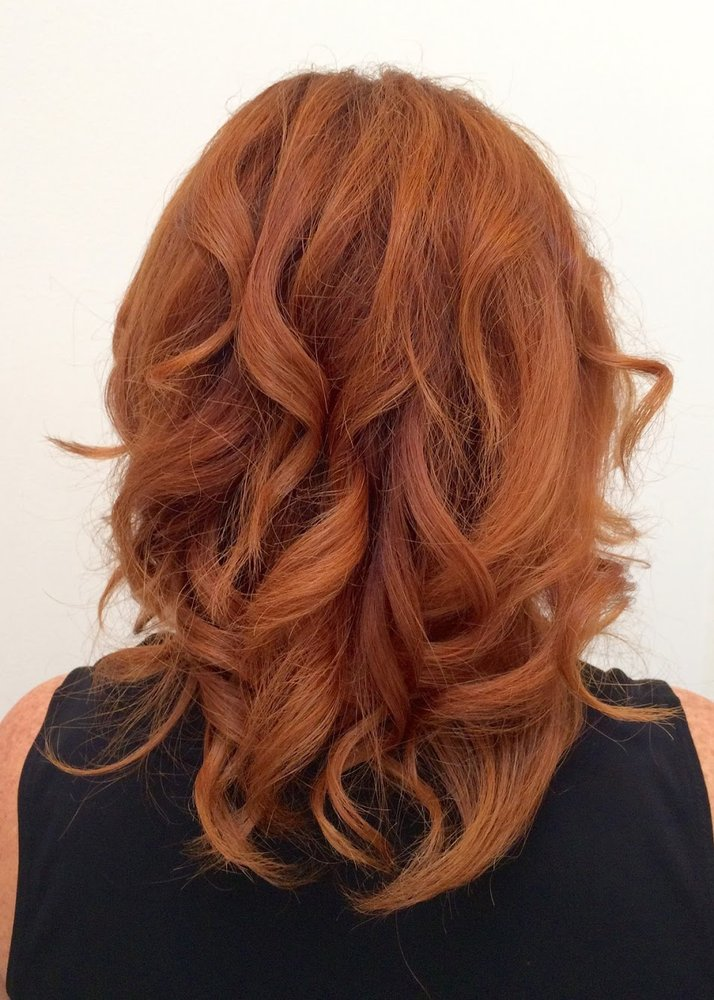 All over copper red haircolor womens long layered haircut yelp photo of honeycomb salon san francisco ca united states all over sisterspd