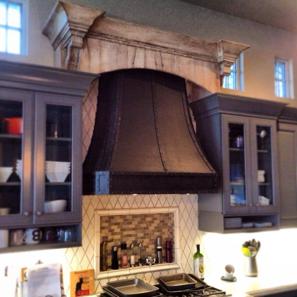 Vintage Kitchen Yelp: Custom Kitchen Hood And Decorative Reclaimed Wood Piece By
