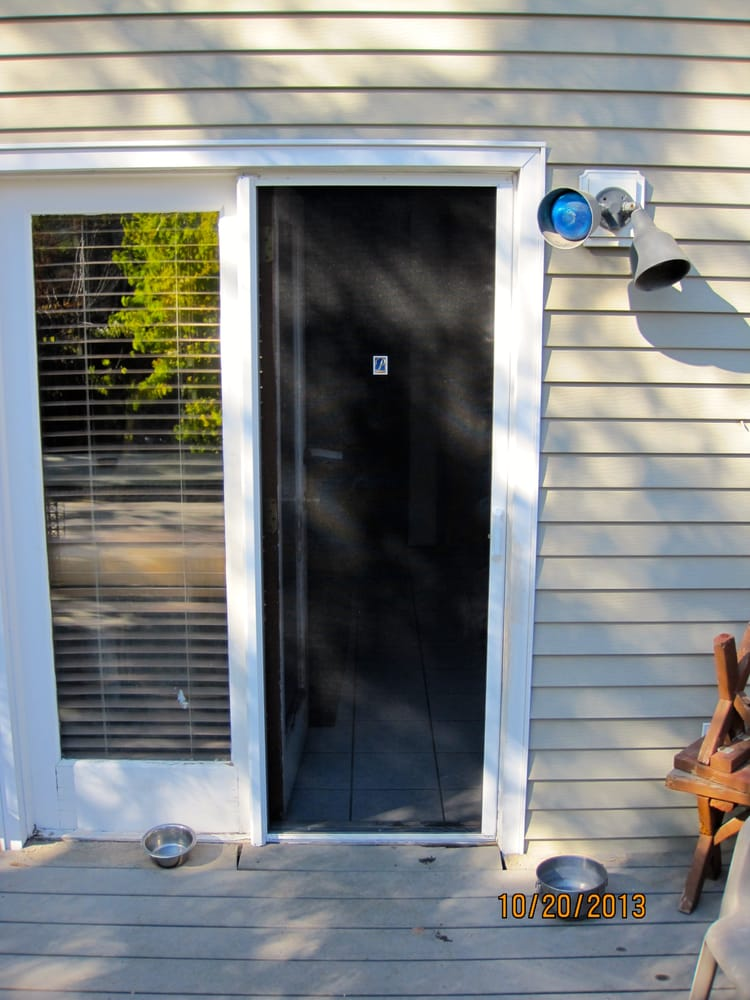 Here 39 s a single action in swing patio door with a phantom for Single swing patio door