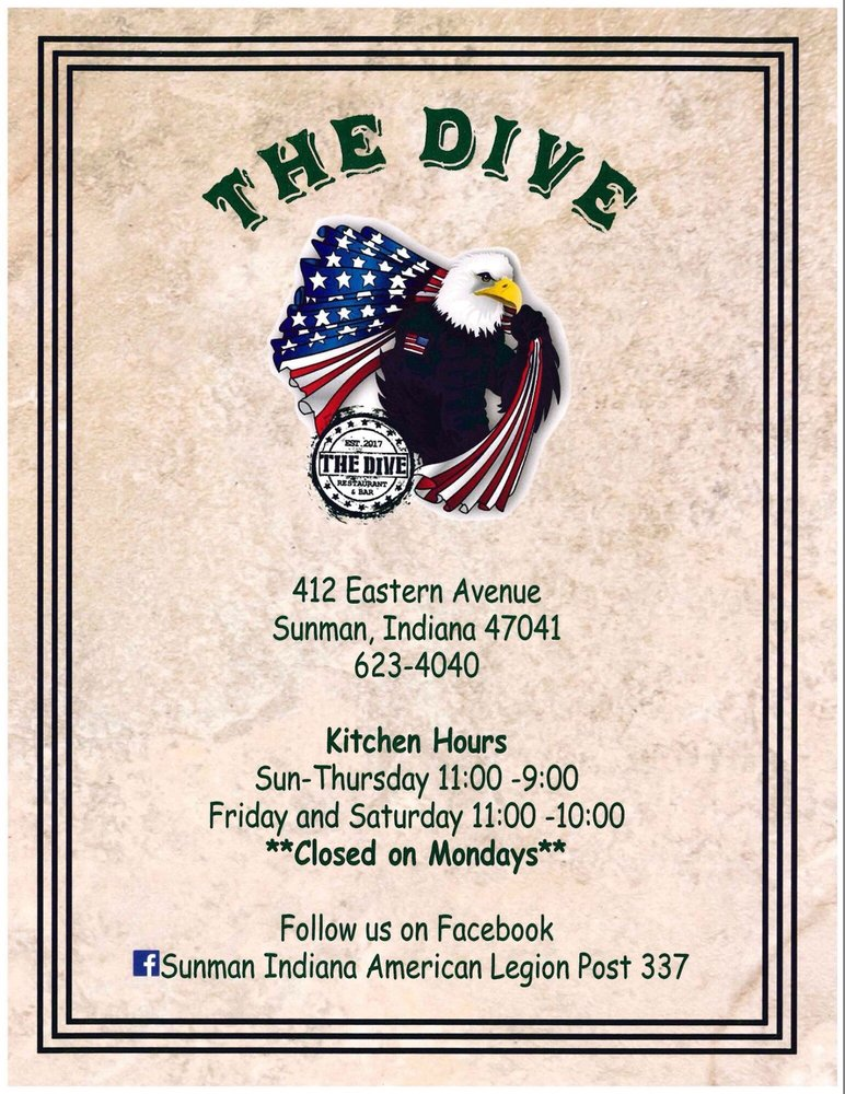 The Dive: 412 Eastern Ave, Sunman, IN