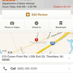 Photo of West Deptford Motor Vehicle Commission - Thorofare, NJ, United States. They