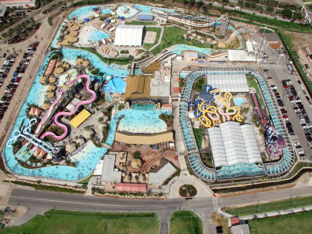 Aerial Of Schlitterbahn Galveston Island Waterpark