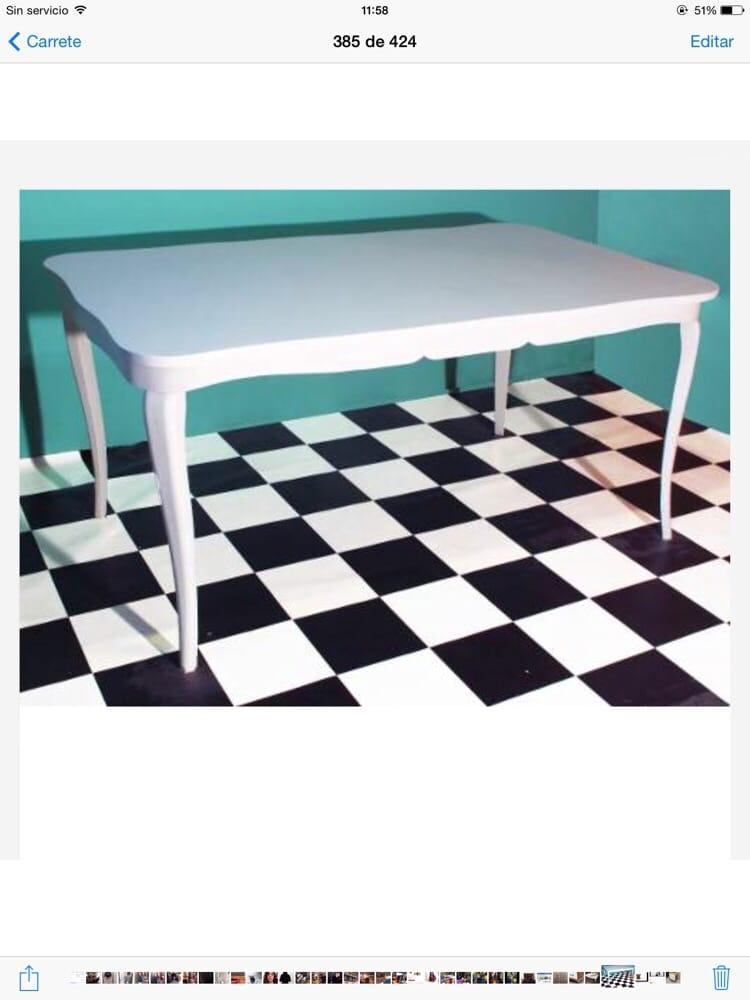 Mesa francesa blanca reciclada yelp - Muebles viejos reciclados ...