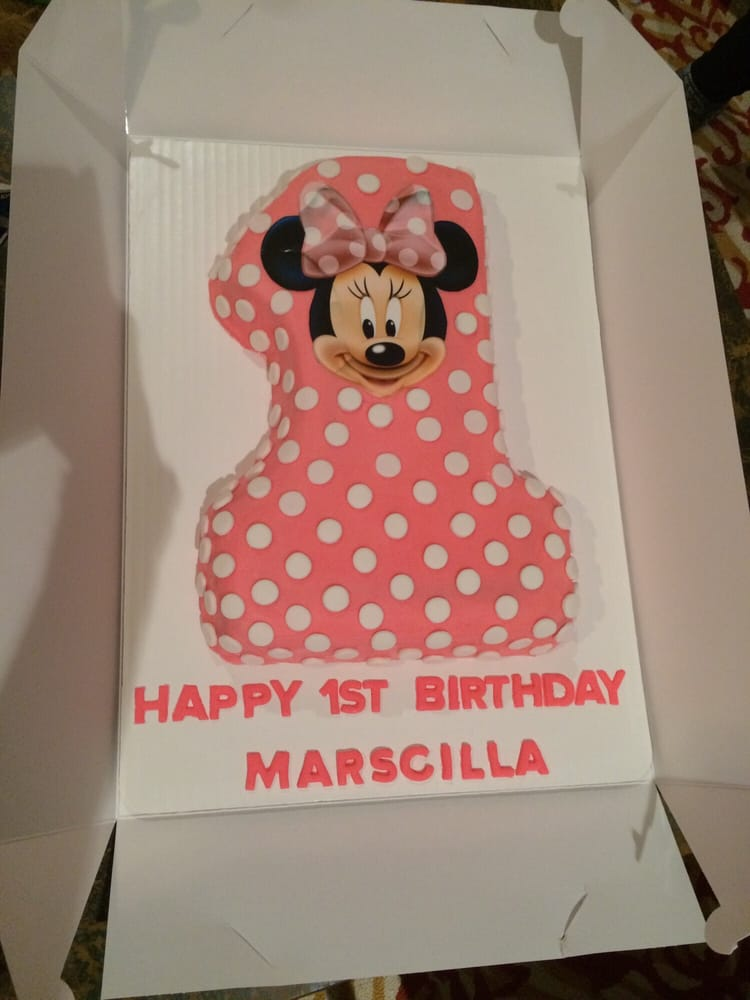 Minnie Mouse 1 shaped birthday cake for my daughters first birthday