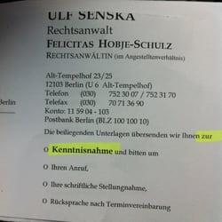 Ulf Senska Lawyers Alt Tempelhof 23 25 Tempelhof Berlin