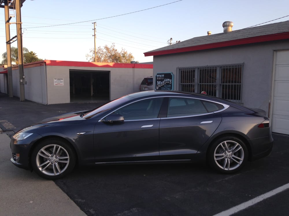 2015 tesla model s tinted with 3m crystalline 70 light. Black Bedroom Furniture Sets. Home Design Ideas