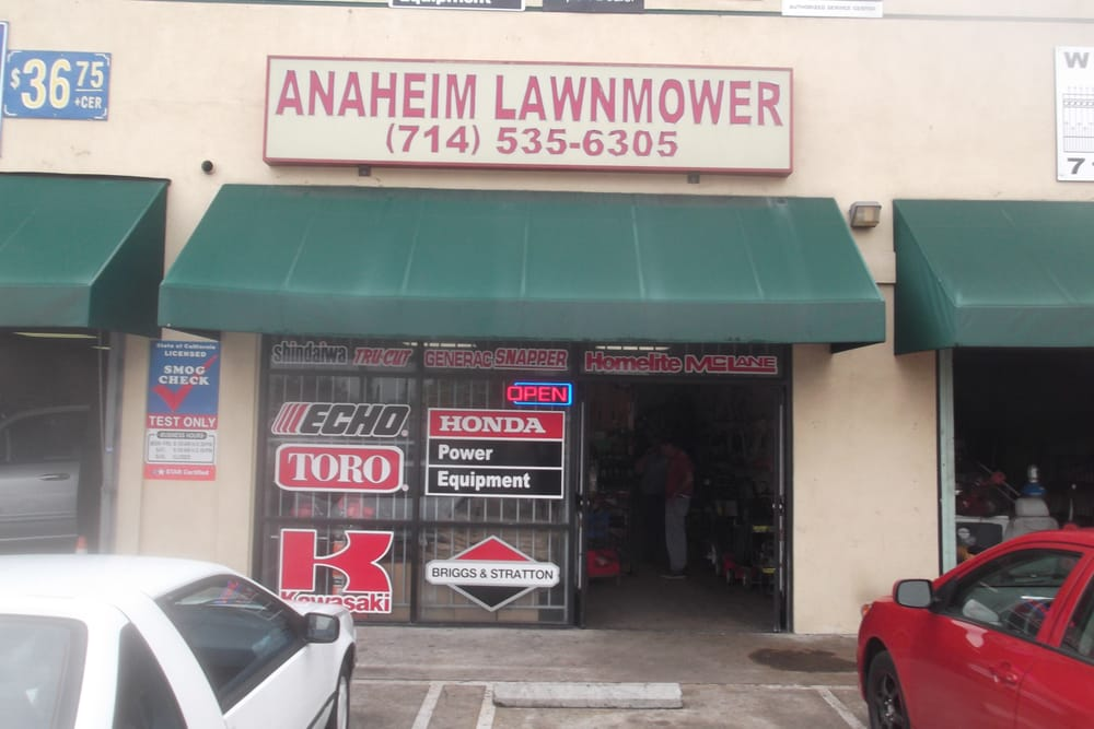 Anaheim lawnmower shop 10 rese as hogar y jard n 895 s east st anaheim ca estados for Jardin urbano shop telefono