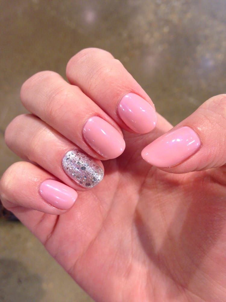 light pink nails - 750×1000