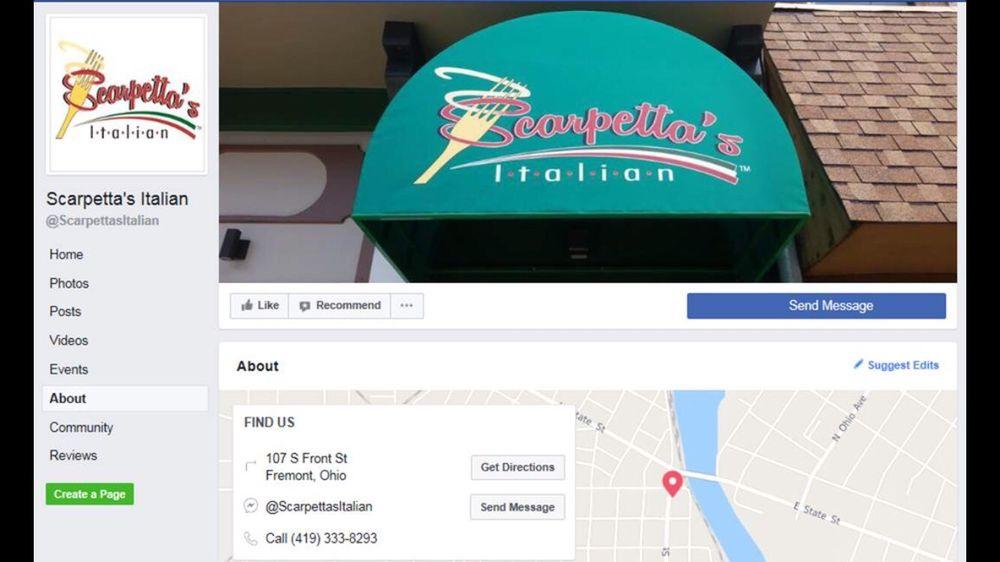 Scarpetta's Italian: 107 S Front St, Fremont, OH
