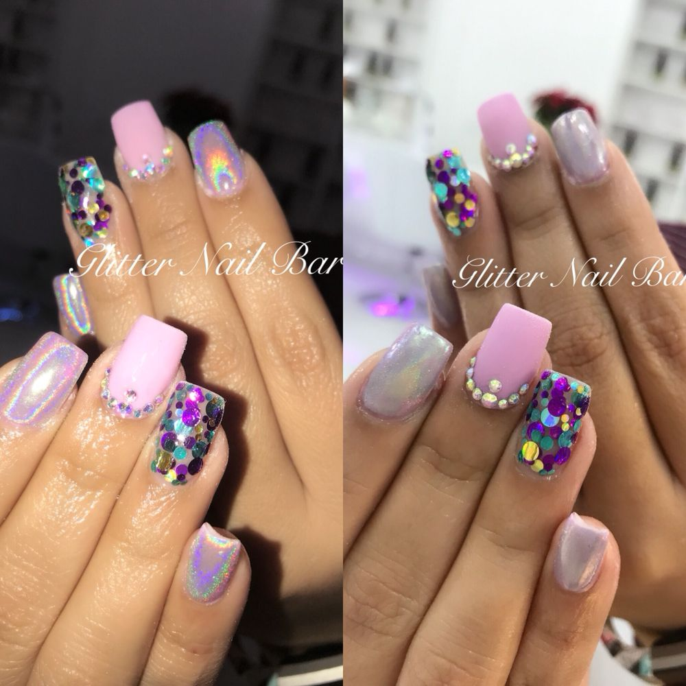 Photo of Glitter Nail Bar - Chandler, AZ, United States. Mermaid nail  Designs - Mermaid Nail Designs - Yelp