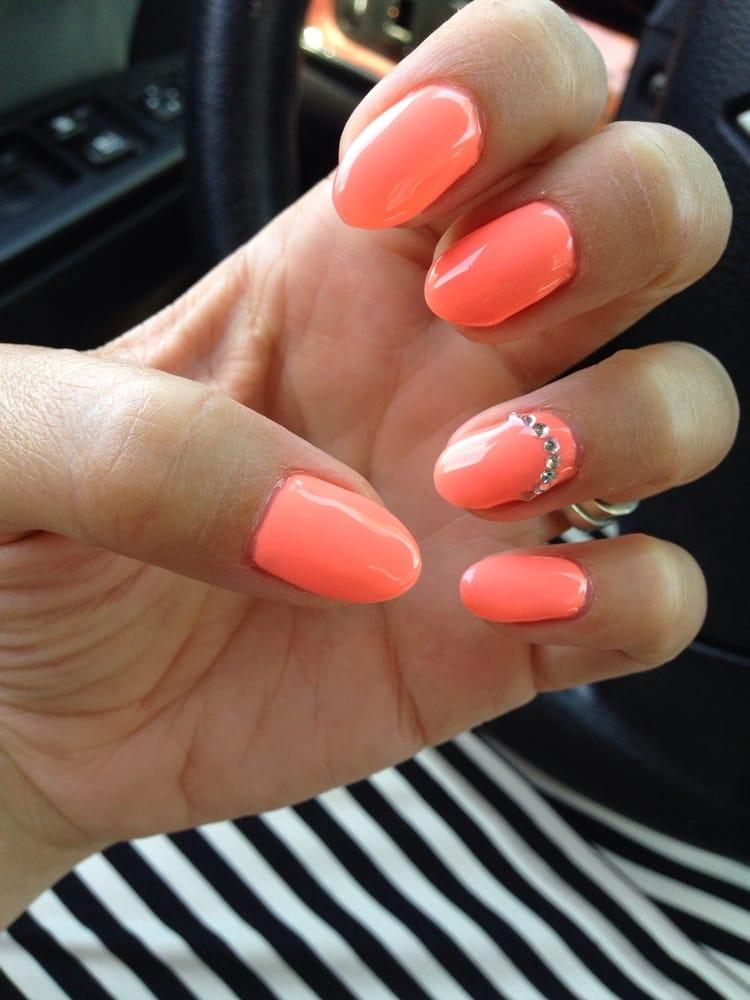 Photo Of Nail Expo Santa Ana Ca United States Bright Orange Gel