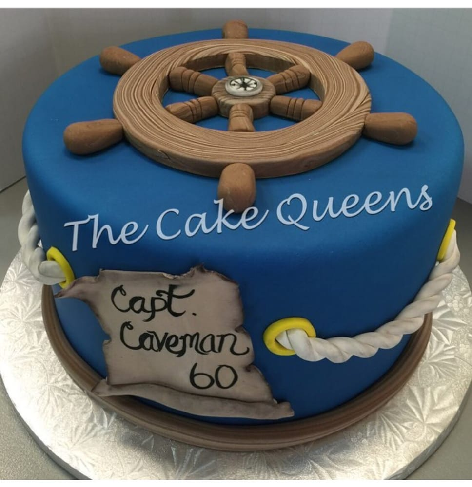 Nautical 60th Birthday Cake