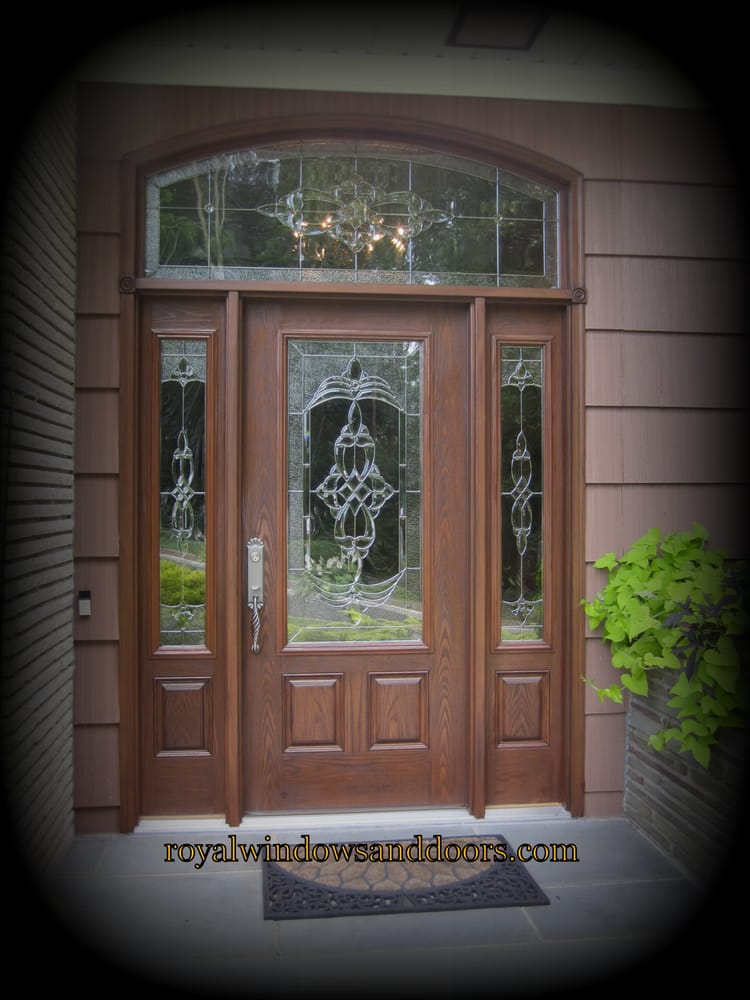 Royal Entry Door With Side Panels And Transom All In Wood