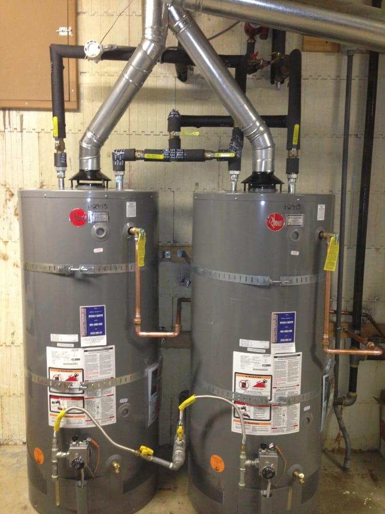 Two Water Heaters In Series With Bypass Valves Yelp