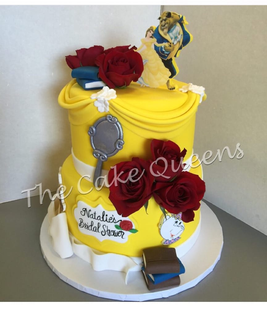Beauty The Beast Bridal Shower Cake Yelp