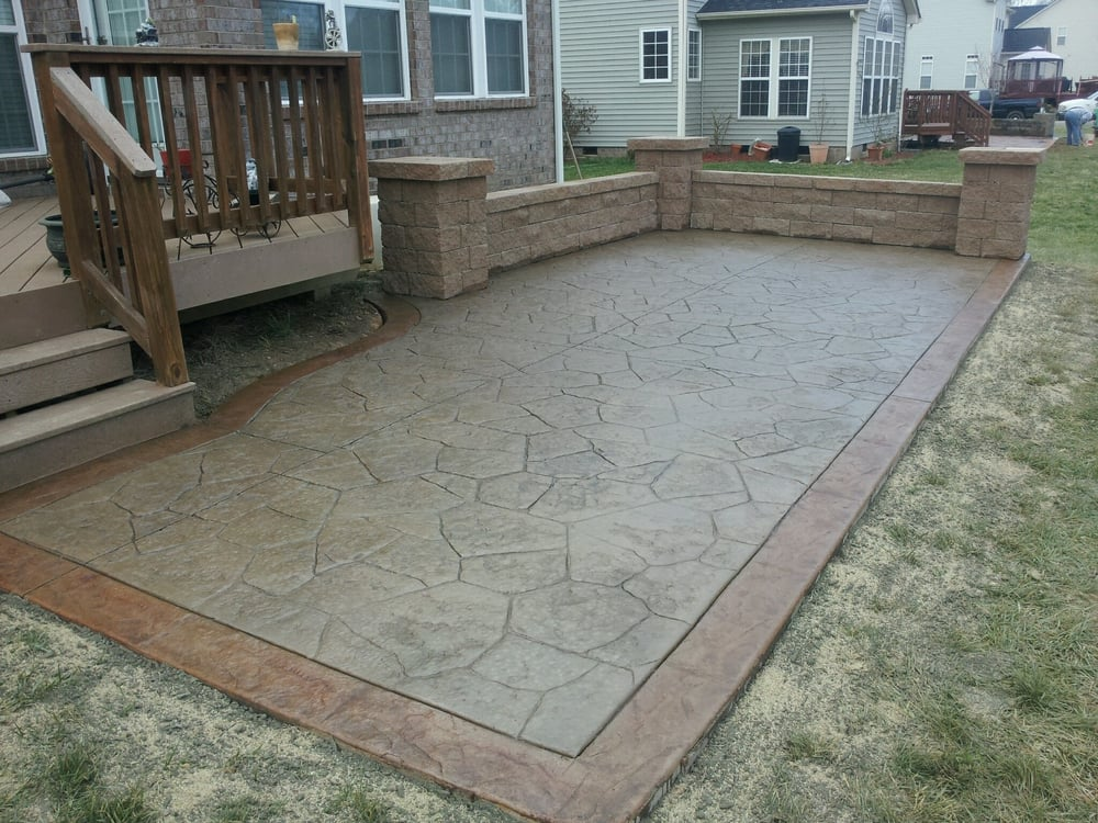 Stamped Concrete Random Stone With Accent Border And
