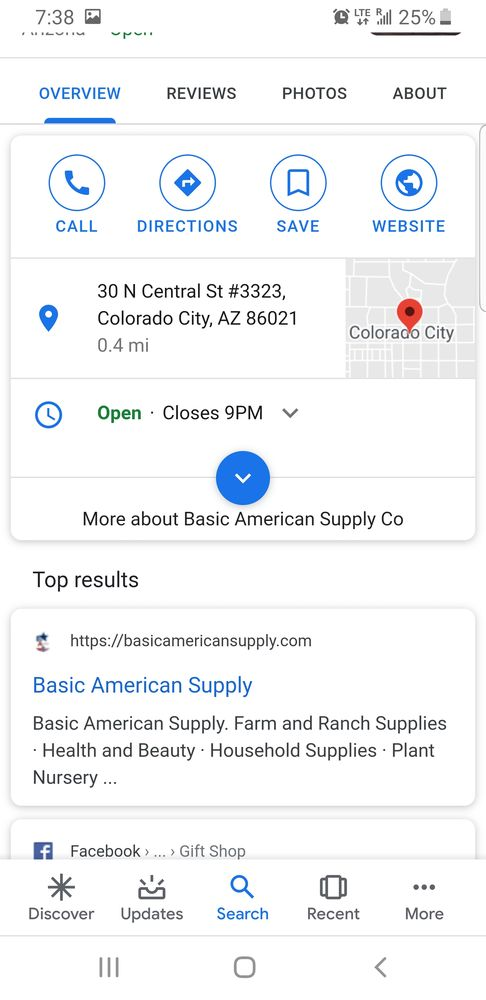 Basic American Supply: 30 N Central St, Colorado City, AZ