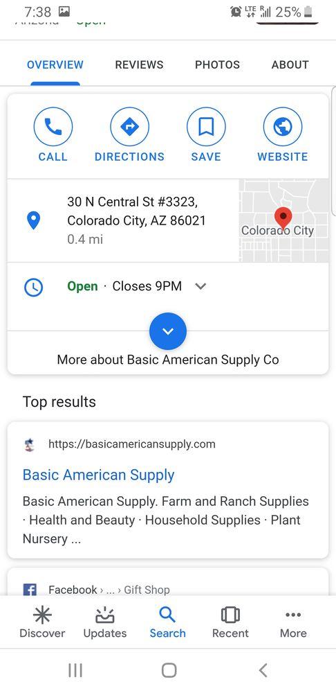 Basic American Supply: 30 N Central St, Colorado City, AZ