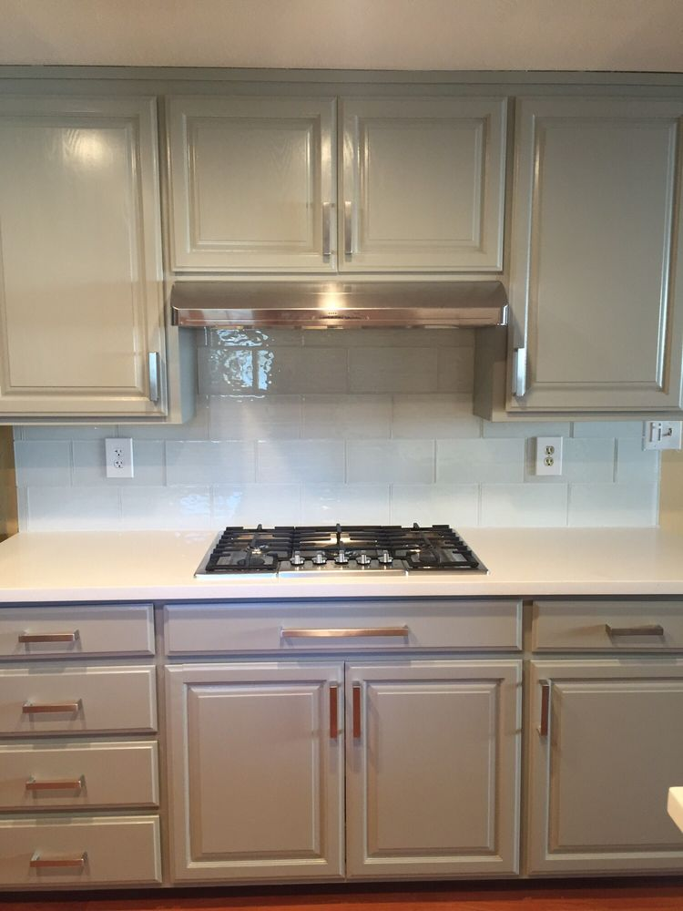 Replaced The Countertops Painted The Cabinets Installed The Gas