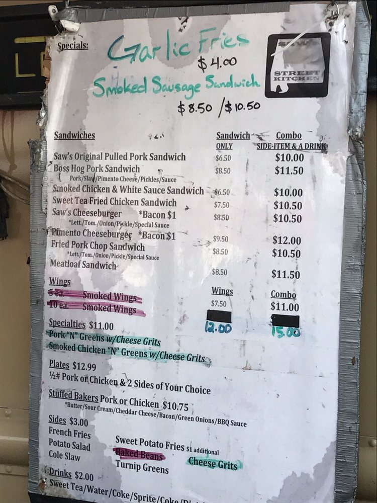 Saw's Street Kitchen: 1154 11th Ave S, Birmingham, AL