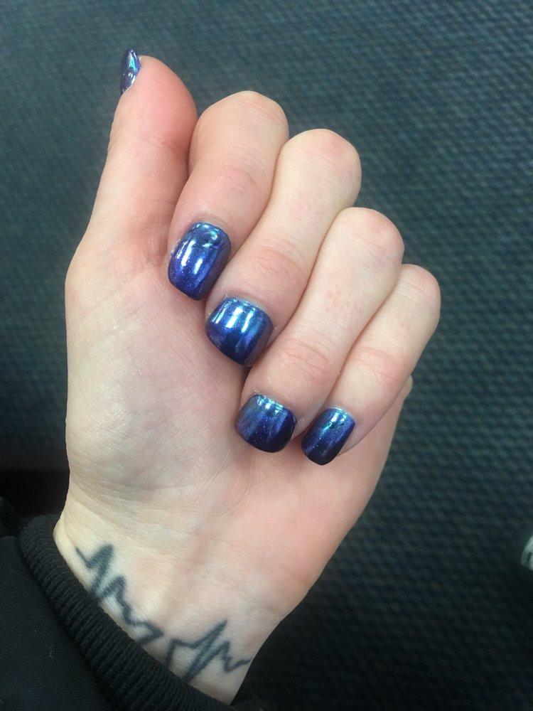 Awesome mani/pedi Chrome iridescent nails , gel polish. The pedi ...