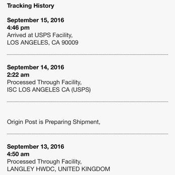 USPS respond over a month later and say your package can't be find