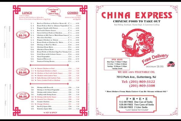 China Express 7013 Park Ave Guttenberg, NJ Restaurants