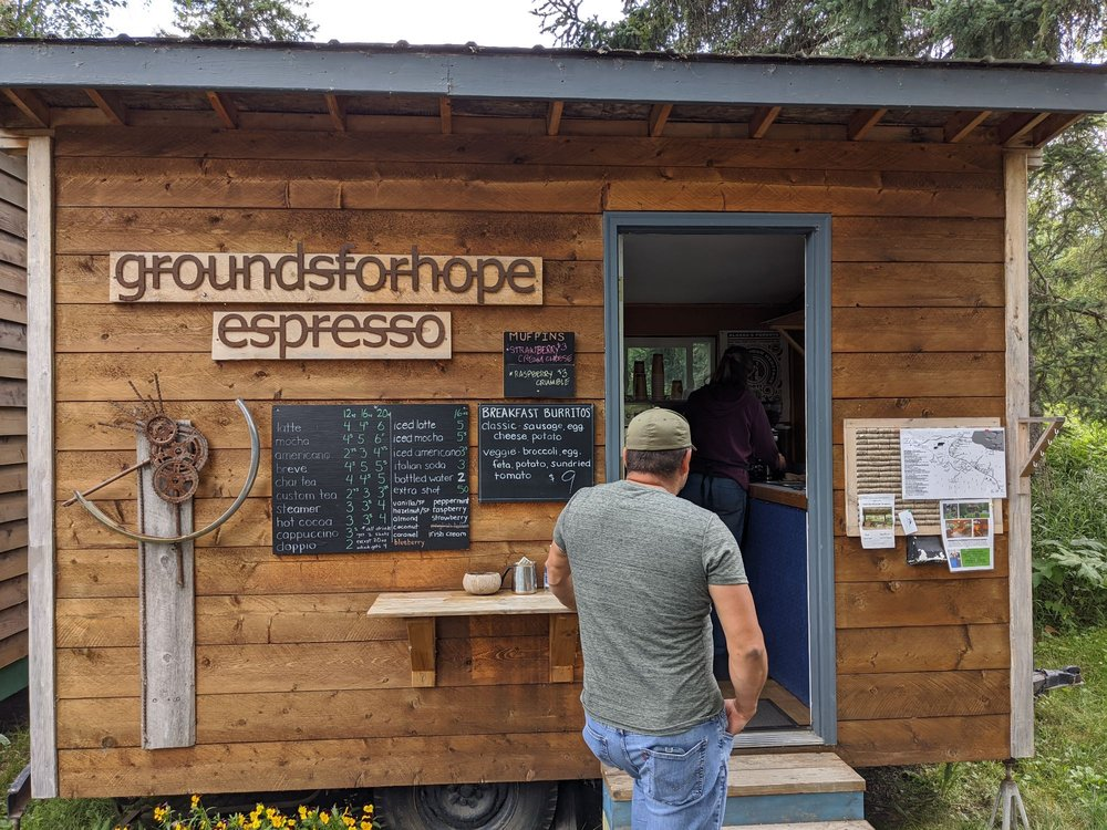 Grounds For Hope Espresso: 2nd St at a St- Library, Hope, AK