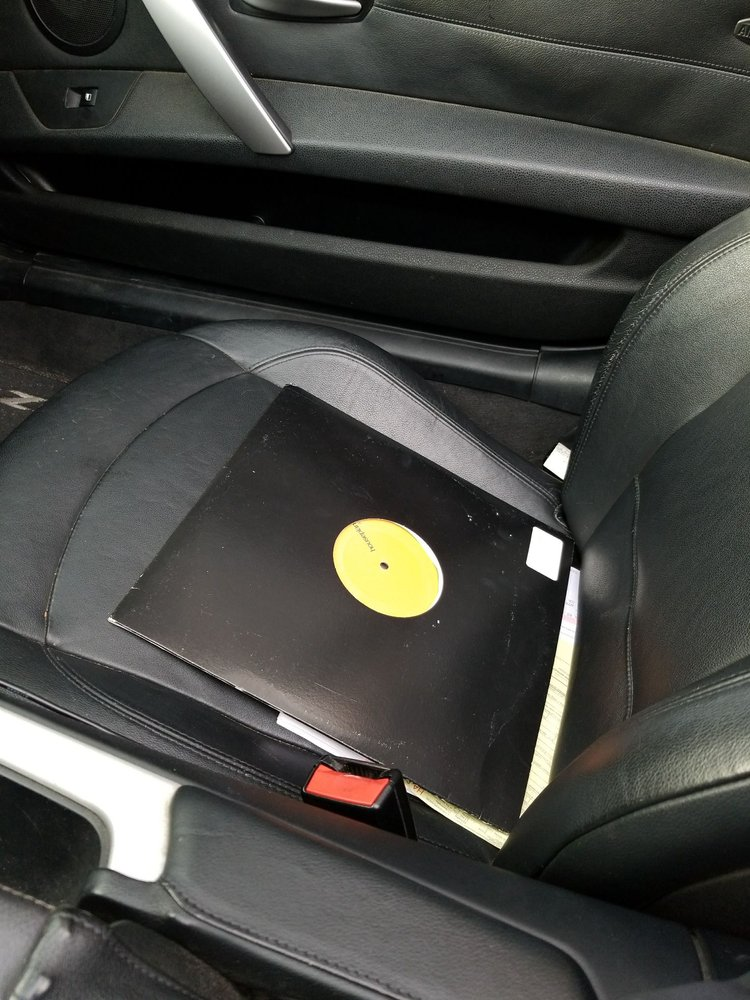 The record belonging to the people that drove my car. Broke ass ...