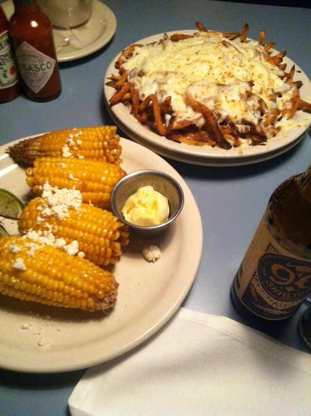 Steuben's Food Service - Denver, CO, United States. Gravy fries & fried corn