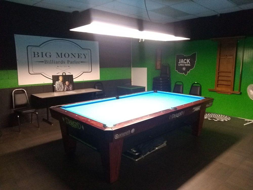 Big Money Billiards Parlor: 118 W High St, London, OH