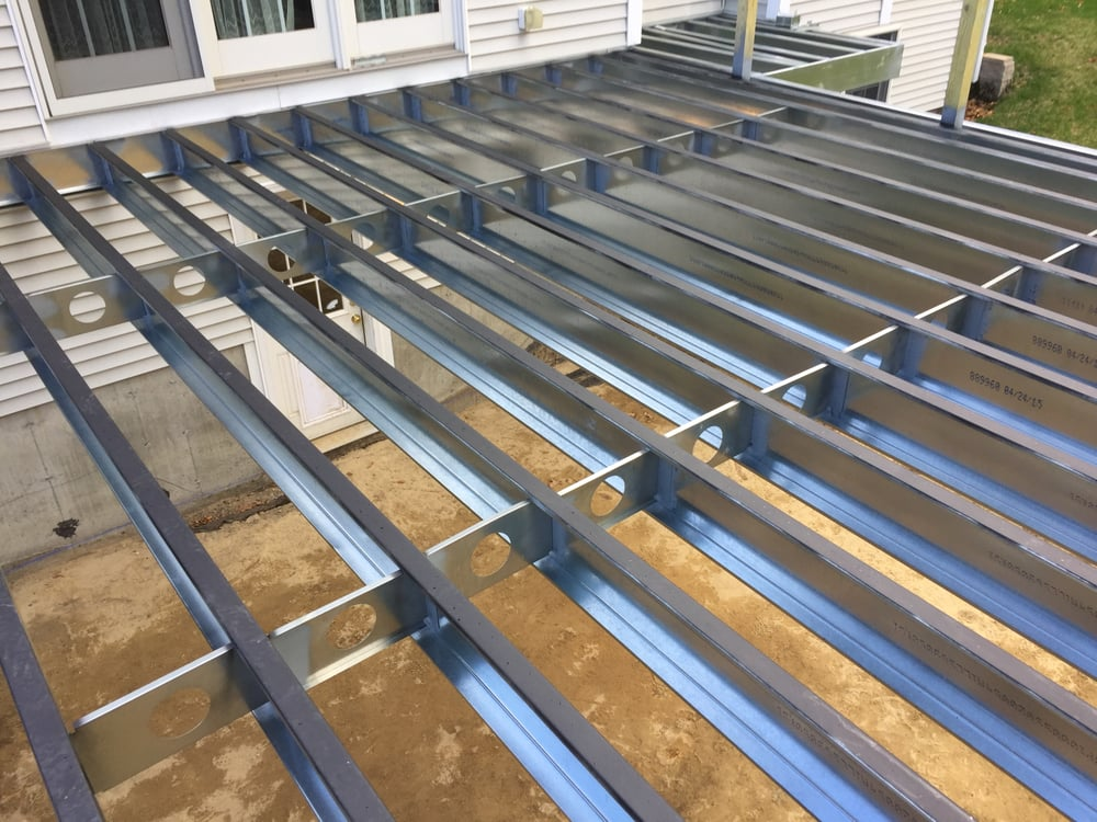 Litchfield, NH. Steel Frame with Fiberon Composite Decking system - Yelp