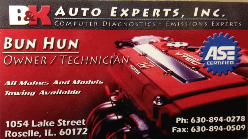 B&K Auto Experts: 1054 Lake St, Roselle, IL