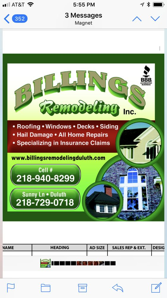 Billings Remodeling: 5917 Sunny Ln, Duluth, MN