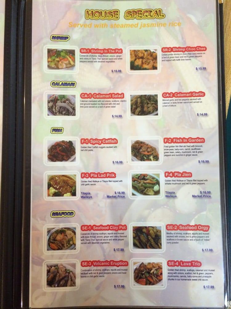 Toledo Thai Restaurant Menu
