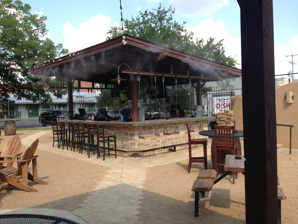 Outdoor Bar With Swings And Misters Stage Too Yelp