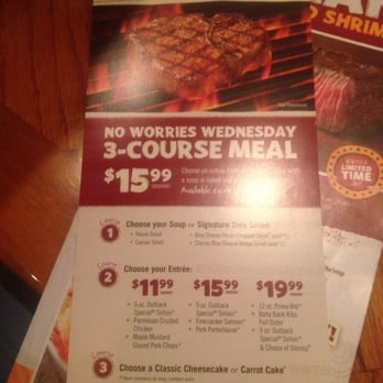 Read reviews from Outback Steakhouse at Severn Ave in Metairie from trusted Metairie restaurant reviewers. Includes the menu, user reviews, 11 photos, and dishes from Outback Location: Severn Ave, Metairie, , LA.