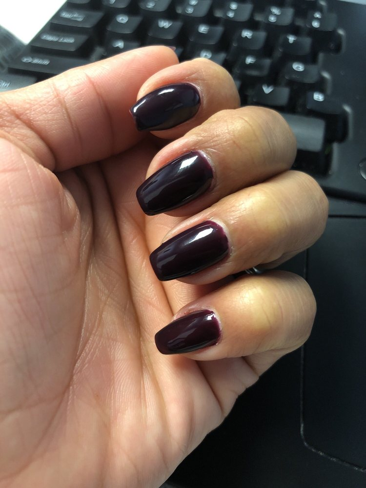 Glitter v-tip French manicure on stiletto nails by Raymond!! - Yelp